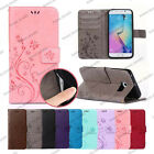 Floral Butterfly Embossed PU Leather Wallet Case For iPhone 7 & Samsung Galaxy