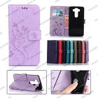 New Vintage Embossed Butterfly Leather Wallet Case Stand For LG G5 / V20 / LS770