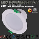 LED DOWNLIGHTS KIT DIMMABLE 20W 150MM CUTOUT WARM OR COOL WHITE 5 YEAR WARRANTY