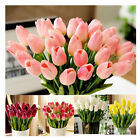 10Pcs/Lot Bridal Bouquets Artificial Tulips Real Touch Fake Flower Wedding Decor