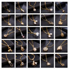 Fashion Jewelry Pendant Crystal Choker Chunky Statement Bib Chain Gold Necklace