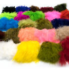 WOOLY BUGGER MARABOU - Strung Fly Tying & Jig Feathers Hareline 24+ Colors NEW!