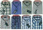 Mens Big Size Tom Hagan Short Sleeve Check Shirts Top Pocket 3XL 4XL 5XL 6XL