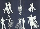 LOTS 5-18 PCS. SUB-SETS DANCING DIE CUTS* BALLROOM COUPLE PROM CHANDELIER  READ