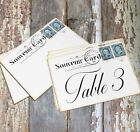 LARGE DOUBLE or SINGLE SIDED VINTAGE POSTCARD WEDDING TABLE CARDS or SIGNS #205