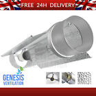 """600W 5"""" Cool Tube Light Air Cooled Double Reflector HID MH 5 inch 4m IEC LEAD"""
