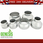 *ALL SIZES* 4 5 6 8 10 12 inch Metal Ducting Pipe Steel Reducers Hydroponic