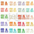 25/50/100/200/500pcs Sheer Organza Bags 7x9cm Wedding Gift Jewelry Pouches OBS