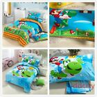 Cotton Super Mario Bros Luma Star Yoshi Mario Bedding Duvet Cover Fitted Sheet