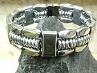 Men's Woman's Powerful 100% SILVER Magnetic Hematite Bracelet Anklet 3 row