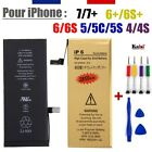 BATTERIE INTERNE + KIT OUTILS PROFESSIONEL IPHONE 7+ 7 6S+ 6+ 6S 6 5S 5C 5 4S 4