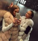 Luxury Genuine Real Whole Fox Whole Fur Vest Women's Long Jacket Coat Fur Vest