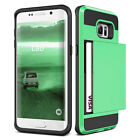 Luxury Card Pouch Dual Layer Shockproof Back Case Cover For Samsung Galaxy E5 E7