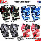 WEIGHT LIFTING HEAVY DUTY CAMO KNEE WRAPS POWER LIFTING/BODYBUILDING GYM SUPPORT