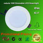 nebula LED Downlights 10W Dimmable ICF SAA IP44 90mm Cutout  Warm / Cool