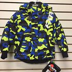 FXR CHILD/YOUTH SQUADRON Snowmobile Jacket HI-VIS/ BLUE URBAN CAMO Free Shipping