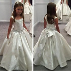 Ivory Flower Grils Dresse Girls Birthday Pageant Gowns First Communion Gowns