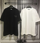 New Men's Oversize Y Darknism Lettering Graphic Print Short Sleeve T-Shirts