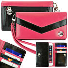 Universal Smartphone Wristlet Wallet Case Cover Chevron Design Clutch Purse