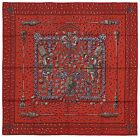 NEW Authentic Hermes Silk Scarf TRESORS RETROUVES Red Annie Faivre