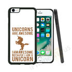 Gold Unicorns Are Awesome Grip Gel Case Cover For All Top Mobile Phones