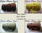 *FREE SHIP* Soft Rich Cotton Rayon Crepe Textured Cone Yarn Knit Weave Crochet