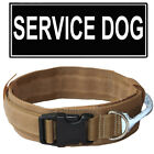 "2"" Military Tactical Dog Collar W/ Reflective Handle & Patch Police K9 Training"