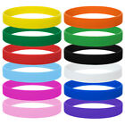 12 PCS GOGO Blank Silicone Wristband LOT Rubber Bracelet Adults Pack