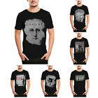 Funny Graffiti Character Print Cotton Short Sleeve Crew Neck T-Shirts For Mens