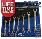 Flare Nut Spanner Set 7pc Brake Pipe Gas Fuel Spanner Flare Wrench 8-24mm