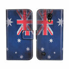 UK Flag For Samsung GalaxyS4 High Quality Mini Flip Cover Stand With Card Holder