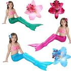 Girl Kid Summer Mermaid Tail Swimable Bikini Set Swim Costume Cosplay Swimsuit