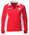 **New Contrast Ladies Long Sleeve Rugby Shirt [red]