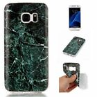 Fashion Marble Granite Pattern Soft TPU Phone Case Cover For Samsung Galaxy S7