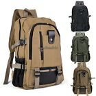 US SELL Men Military Vintage Canvas Rucksack Backpack Hiking Camping Bag CLSV01
