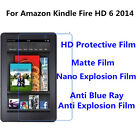 3pcs For Amazon Kindle Fire HD 6 2014  Matte/Anti Blue Ray Screen Protector