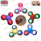 2017 LED Flash EDC Fidget Hand Spinner Metal Plating Light Up Anti-stress Toy