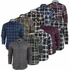 Brave Soul Mens Check Chequered Lumberjack Cotton Long Sleeved Shirt Size S-XL