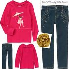 NWT Gymboree STAR OF THE SHOW Girls Size 5 6 Jeans Tee Shirt Top Hair 3-PC SET
