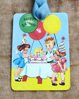 Hang Tags HAPPY BIRTHDAY PARTY KIDS CAKE BALLOON TAGS or MAGNET #378  Gift Tags