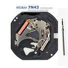 NEW ! Watch Movement Seiko 7N43 ,Stem included, repair/ replacement . Free Ship