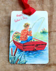 Hang Tags MAN FISHING IN BOAT TAGS or MAGNET #380 Gift Tags