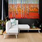 Tree Art Painting Forest Modern Landscape Fire Bush Aboriginal by Jane Crawford