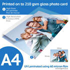 A4 Bordeless Custom Printed Gloss Photo Prints with 3 Finishes Available
