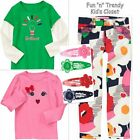 NWT Gymboree BRIGHTEST IN CLASS Girls Size 8 Pants Shirt Top Hair Clips 4-PC SET
