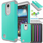 Outer Box Shockproof Rubber Hard Case Cover For LG LV3 /LG Aristo / LG K8 2017