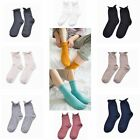 1 pairs Solid Soft Cotton Crimping College Stockings Knee-socks