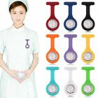 Hot Silicone Brooch Tunic Fob Pocket Nurse Watch Case Cover 9 colors to choose