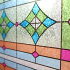Frosted Static Window Film Decorative Vinyl Stained Glass Paper Privacy Fablon