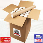 Postal Tubes Cardboard Poster 95cm x 51mm x 2mm wd Plastic End Caps - Box Of 10